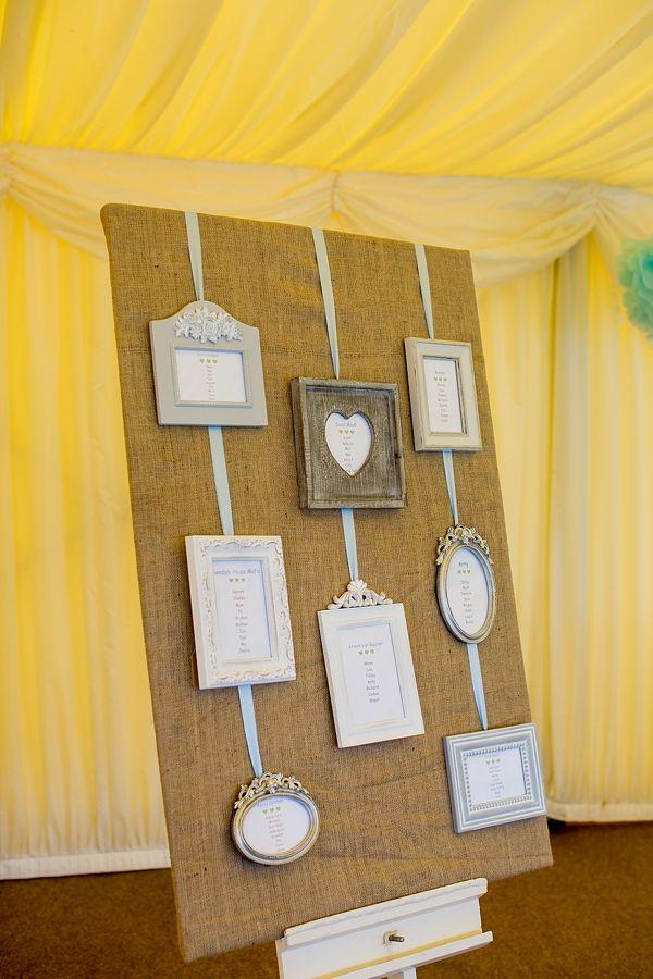 Wedding Hessian Frame Table Plan http://www.katherineashdown.co.uk/