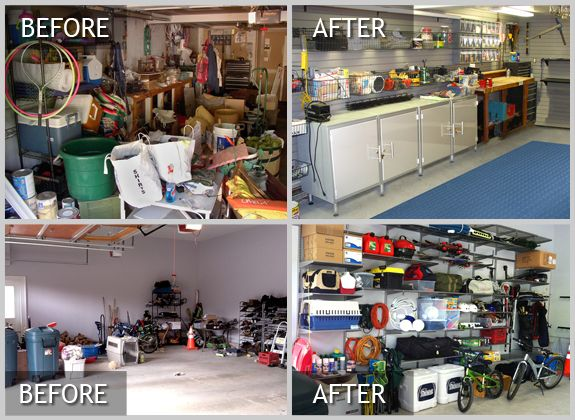 Garage Organization Before And After Garages Pinterest