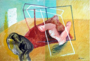 THINGS AND FIGURES, - Maia Stefana Oprea, acrylic on canvas, 2012 @saatchiart  http://www.saatchiart.com/art/Painting-THINGS-AND-FIGURES/43191/2251288/view