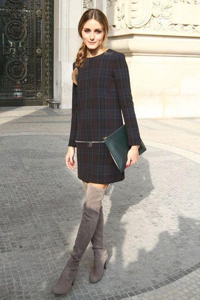 Perfect Olivia Palermo in stunning overknees