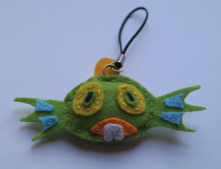 Murky handmade geeky key ring made from felt, heroes of the storm, hots