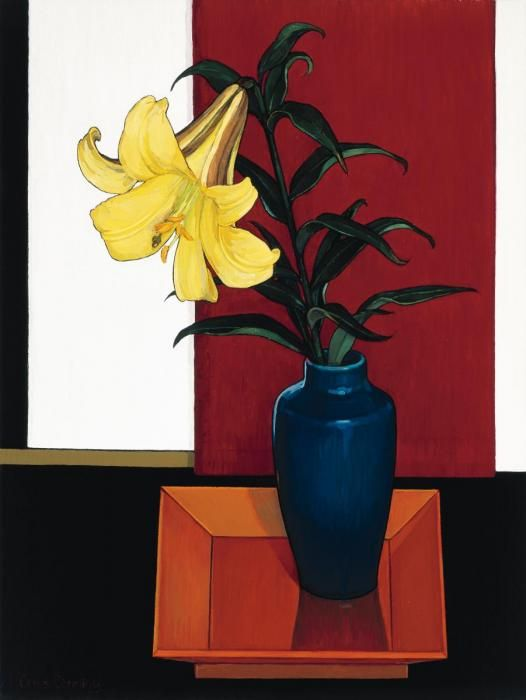 Criss Canning (b.1947) — The Yellow Regal Lily (526x700)