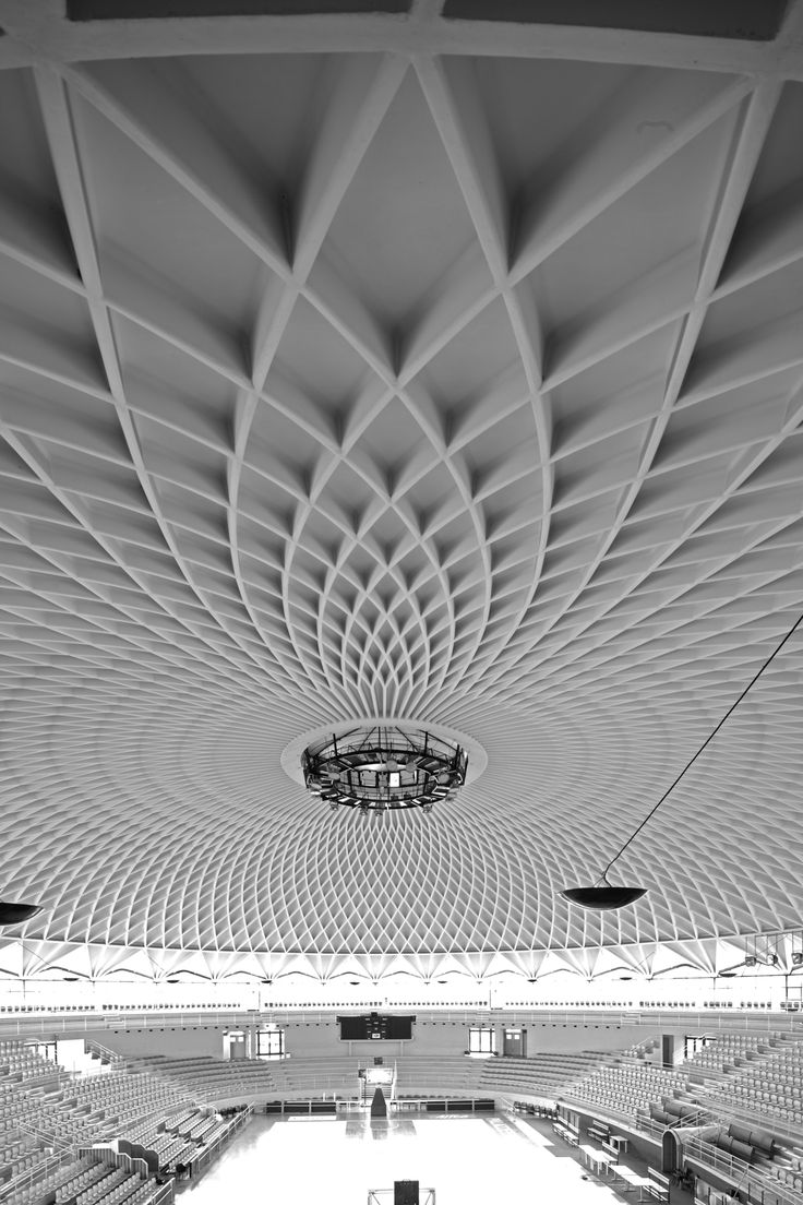This is a thing of beauty. The perfect synthesis of classical and modern. Geometric Ceiling.