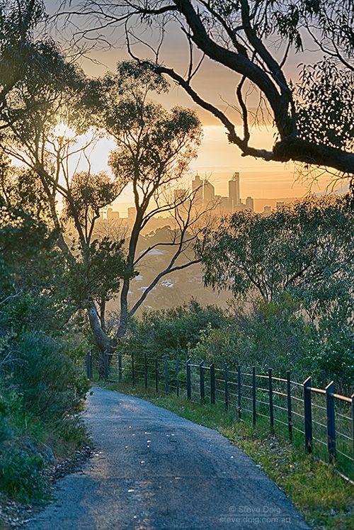 #sunrise over #Perth CBD from #BoldPark #thisisWA