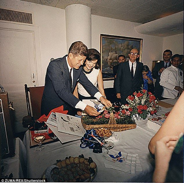 President's Birthday Party, given by White House Staff in the Navy Mess Hall on May 29, 19...