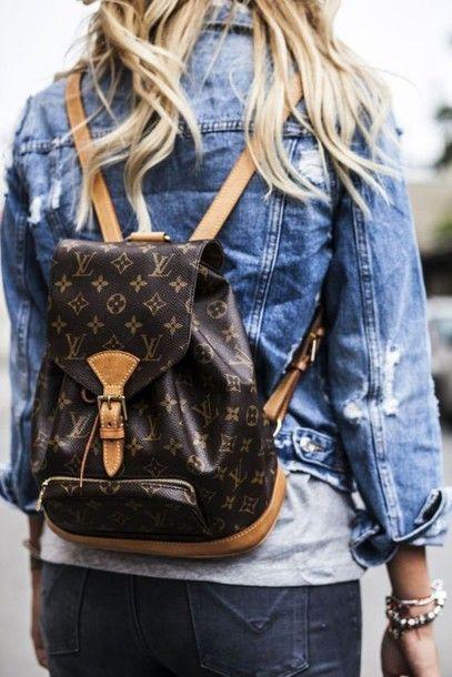 bag tumblr backpack leather backpack mini backpack louis vuitton backpack denim jacket denim jacket blue jacket