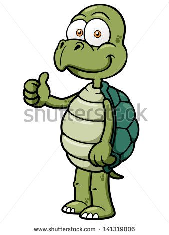 Turtle Cartoon Character With Glasses