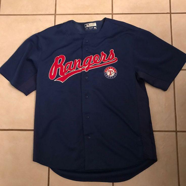 True Fan Josh Hamilton 32 Royal Blue Red MLB Texas Rangers Baseball Jersey L 42 #MLB #Jerseys