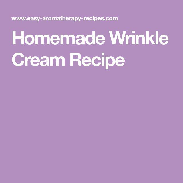 Homemade Wrinkle Cream Recipe
