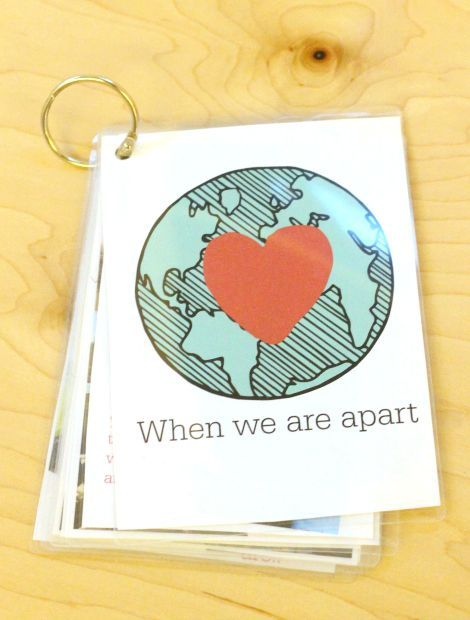 when we are apart photo book for kids - make this to help eases separation anxiety.