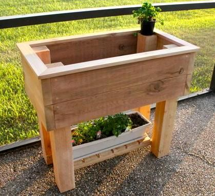 elevated cedar planter box plans woodworking projects. Black Bedroom Furniture Sets. Home Design Ideas