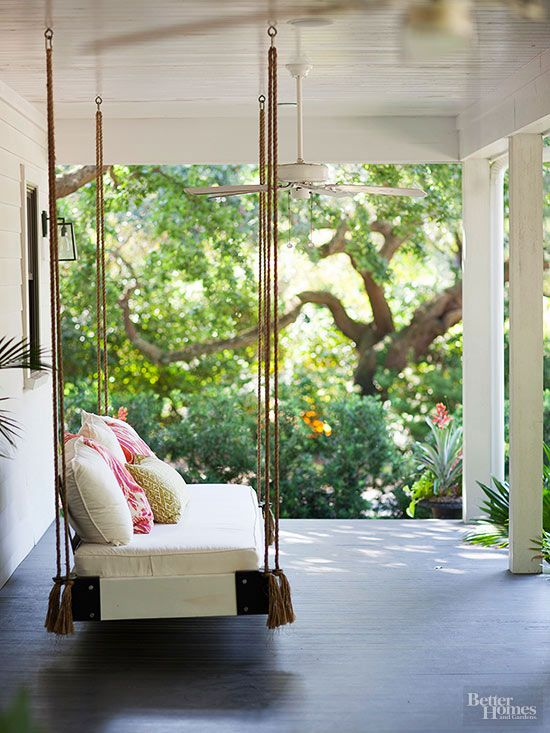 Although furniture is a quick fix, a swinging patio bed is a simple, charming…