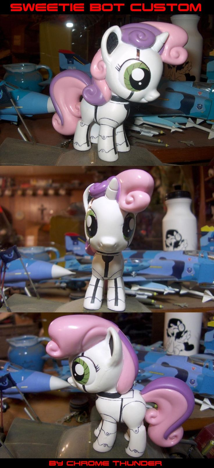 Lighting dust exe has stopped working my little pony friendship is - I First Started This Custom When Funko Released The Large Cmc Figures I Bought A Sweetie Belle To Make A Sweetie Bot Repaint