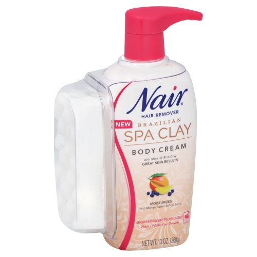 Nair Brazilian Spa Clay Hair Remover Body Cream Directions