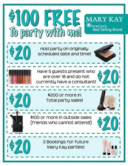 Host a Party and earn $100 FREE Mary Kay! http://www.marykay.com/lisabarber68 Call or text 386-303-2400