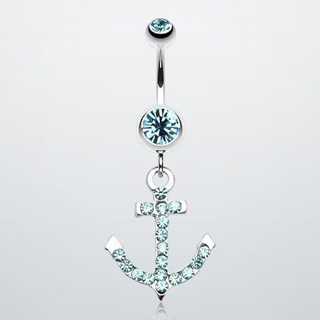 Anchor Gem Sparkle Belly Ring ($9.95)