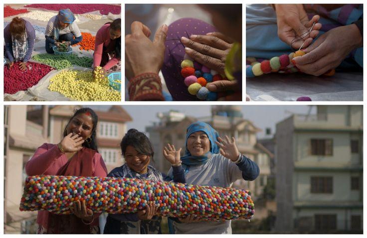 kvinner-nepal-ullkuleteppe-håndverker-kunststykke