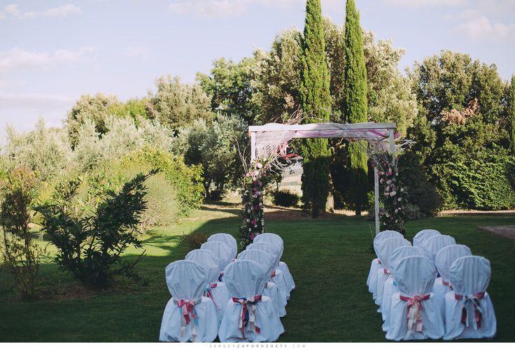 Huppa per matrimonio all'aperto Lajatico 2013
