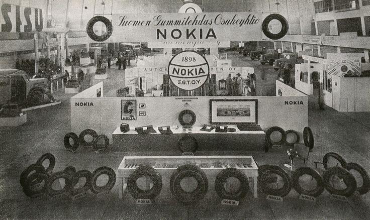 #TBT Nokia tire booth circa 1946. Old school! #NokiaTires