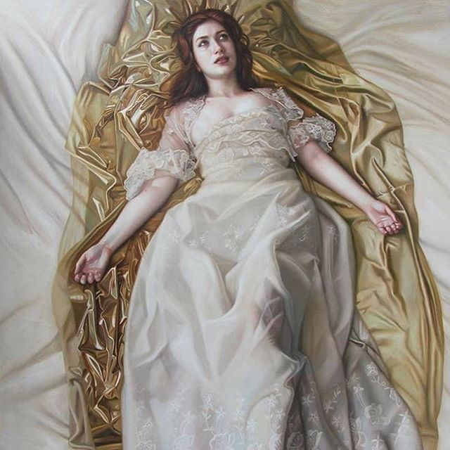 "@harold.munoz.artist' ""Je Reveillerai L'aurore"" [Oil on canvas 100 x 100 cm] is on view at the Beautiful Bizarre Magazine international group exhibition ""Bitter 