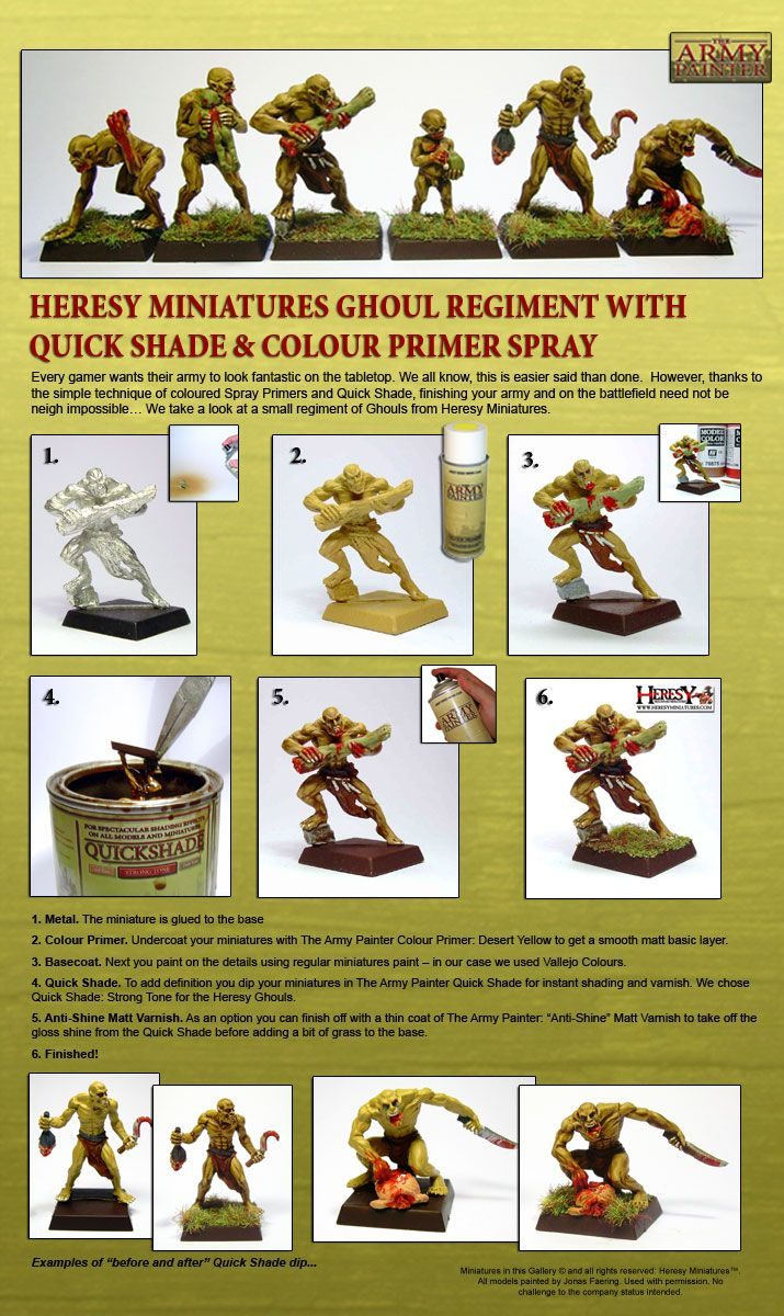 Painting miniatures color master primer - Desert Yellow Army Painter