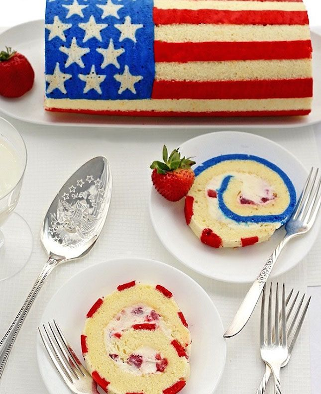 fourth of july roll cake