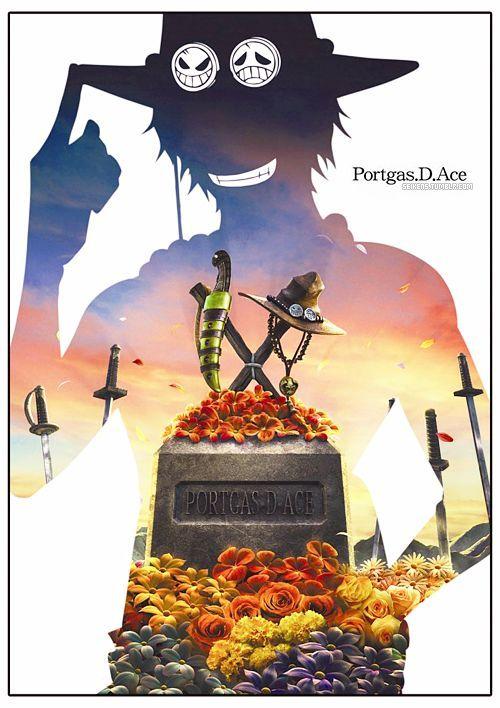 """Portgas D. Ace était aussi porteur de la """"Volonté du D"""", qui coulait dans ses veines de par son père Gol D. Roger et de sa mère Portgas D. Rouge; il était donc lié à un grand destin mais Ace préféra sacrifier sa vie pour sauver celle de son petit frère."""