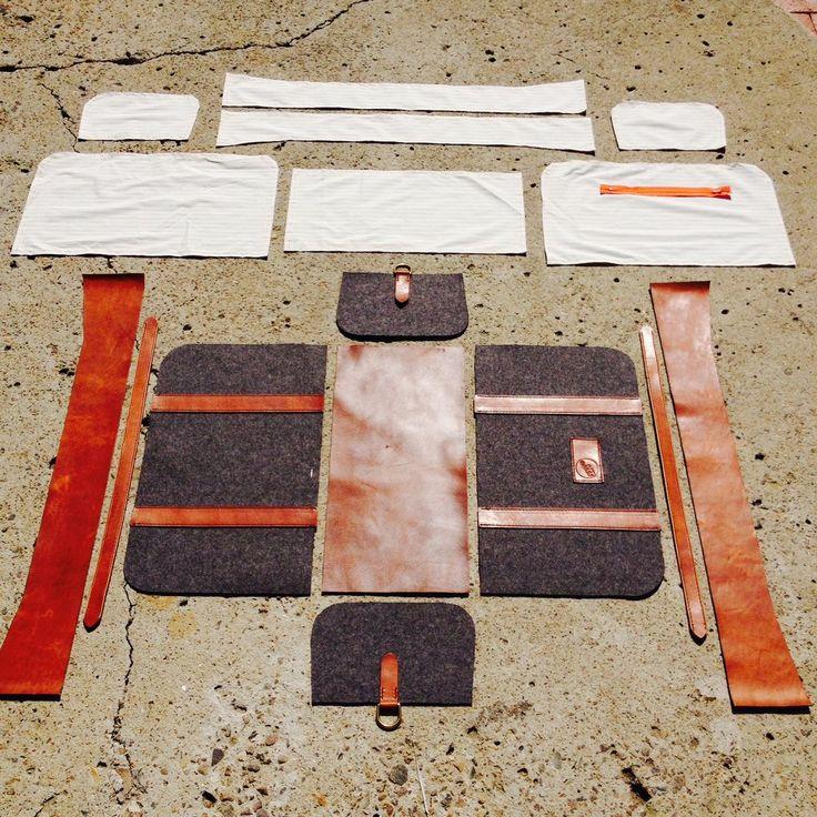 DIY leather duffle bag