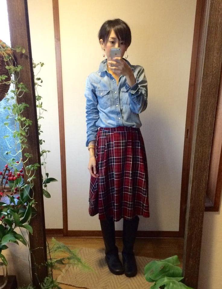 12月5日 Honey'sスカートでプチプラ大人ナチュラルスタイル:
