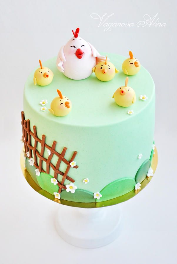 children's birthday cake for chickens fan