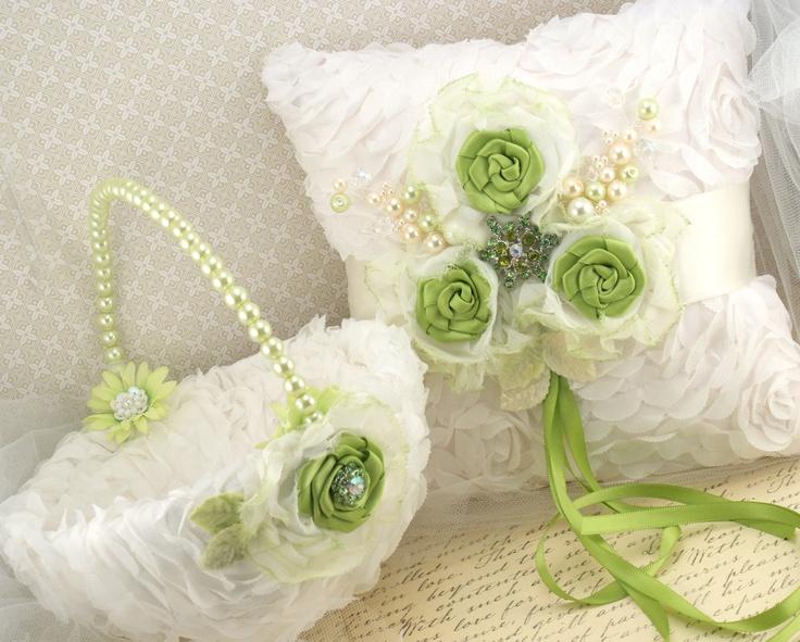 Ring Bearer Pillow and Flower Girl Basket