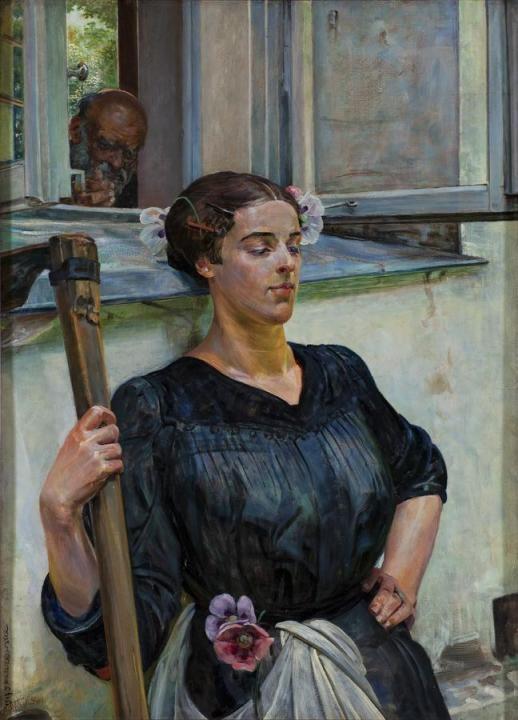"""""""Death II"""" by Jacek Malczewski (1917) @ Museum of Art in Lodz (Poland)"""