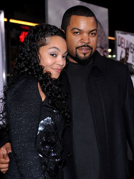 Ice Cube and beautiful wife of time...