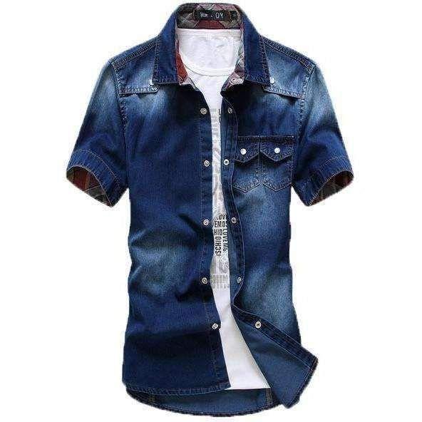 Short Sleeve Denim Shirt (3 colors)