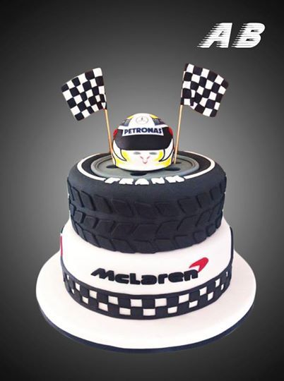 F1 Cake Lewis Hamilton Mercedes I Love The Tire Design