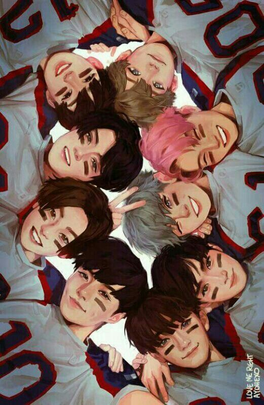 EXO fanart♥ #love me right