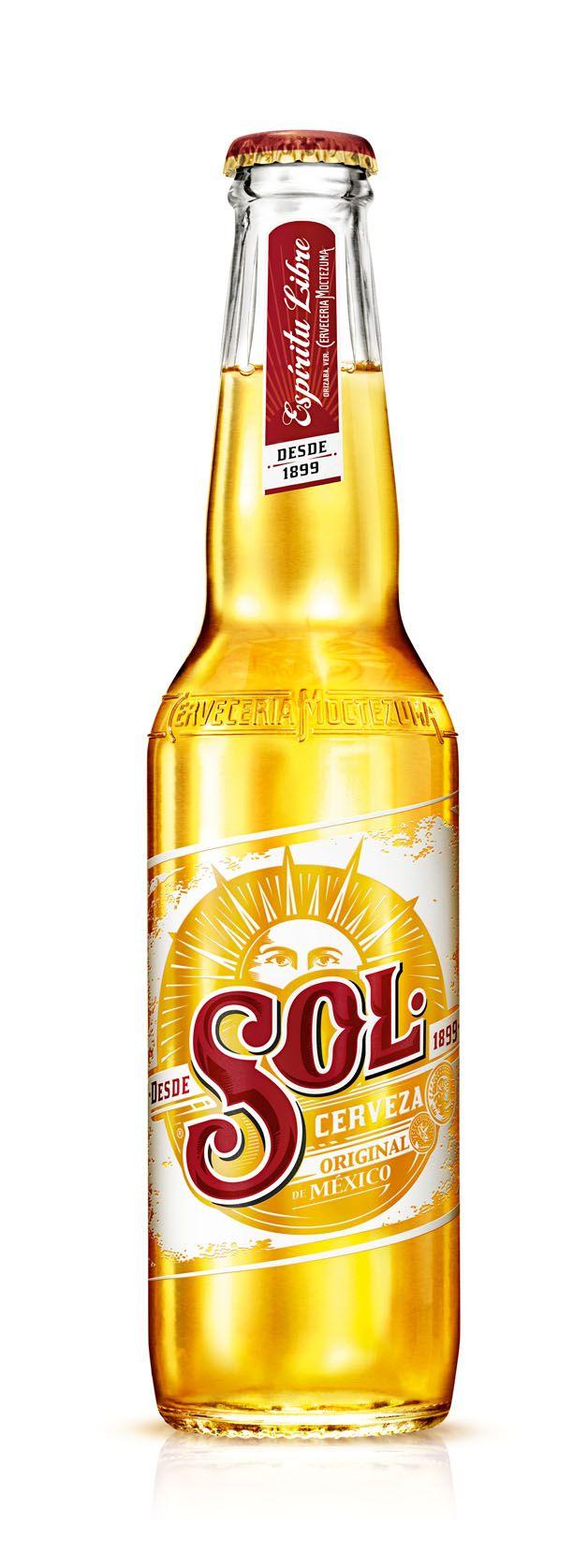 El nuevo diseño de cerveza sol Internacional