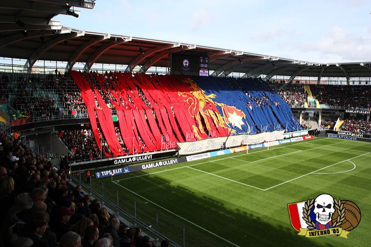 Örgryte IS Tifo vs. GAIS in Allsvenskan, the swedish top division. - 2009