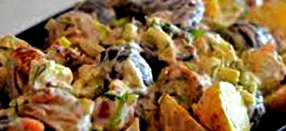 Romerige Biltong en Feta Aartappelslaai | Boerekos – Kook met Nostalgie