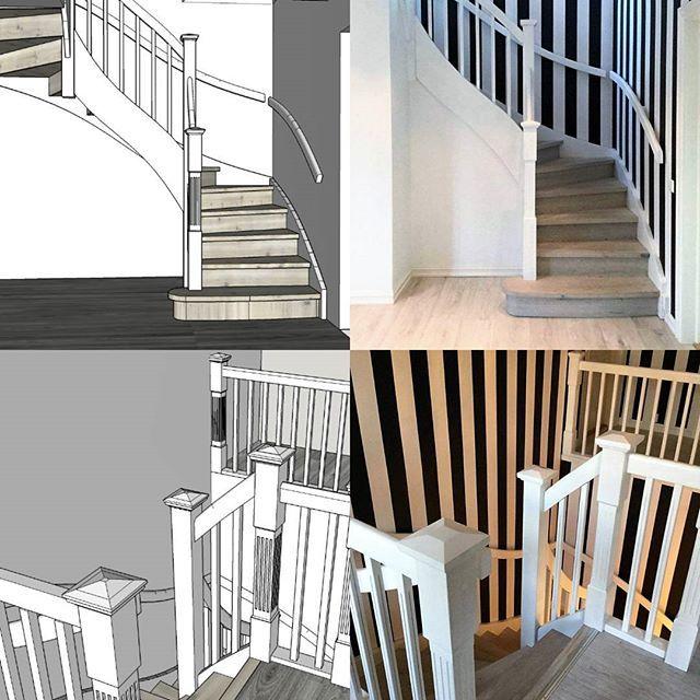 Design an result. #schodyskandynawskie #bialeschody #trappan #eiketrapp #ektrappa  #schodydrewniane