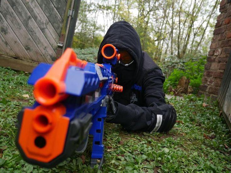 Nerf Sniper  Nerf Gun: Longshot CS 6 Sniper: Dämonenhalbblut  Photographer: @vaynilephotography  #nerf #nerfgunbattle #nerfgunparty #nerfgunwar #dartblaster #blaster #toygun #toys #hasbro #sniper #longshot #longshotcs6 #blue #orange #black #nature #outdoor #outside #wooddoors #pictureoftheday #picture #blackclothes #sniper #battle #game #cosplay #instadaily #instagood #diy #forest