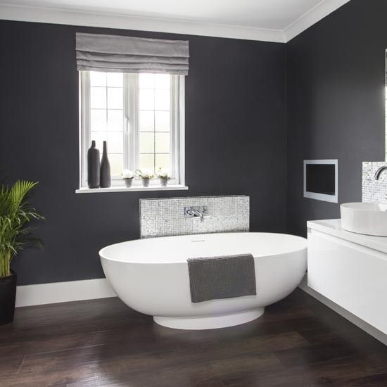 Dramatic Dark Grey Bathroom