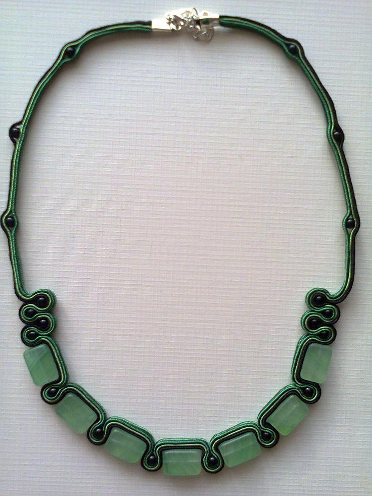 Zielony naszyjnik sutasz - 35 zł