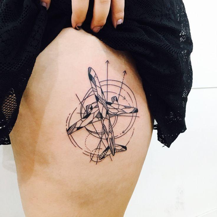 airplane tattoo | Tumblr