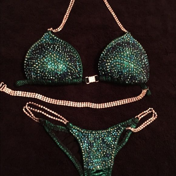 NPC bikini ➖➖➖❎T Marie SUIT ❎➖➖➖➖ Worn Once and it's now on sale!!  TOP SIZE:(BRA SIZE 34 DD BOTTOM SIZE SMALL.  NPC FITNESS COMPETITORS WILL KNOW THIS IS A GREAT DEAL!  ORIGINAL  COST WAS $1100.. Make me an  offer  SERIOUS BUYERS ONLY PLEASE #bikinisuit#npc##fit#blingbling##humpdaywednesday Jackets & Coats