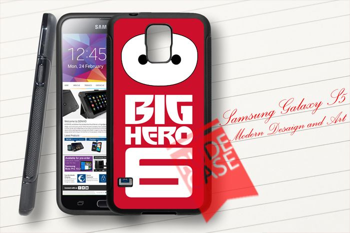 Samsung Galaxy S5 Custom Big Hero 6 Logo Baymax Rubber Case