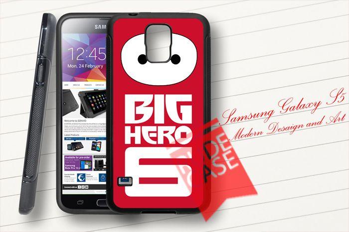 Samsung Galaxy S5 Custom Big Hero 6 Logo Baymax Rubber Case