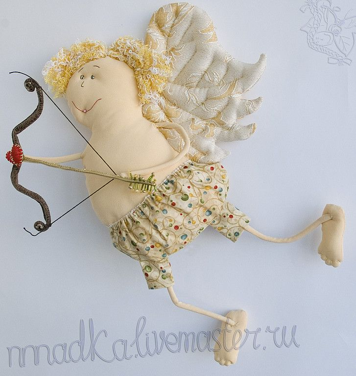 Купить Амурчик - Амур, ангел, текстильная кукла, любовь, сердце, кукла, день валентина 2012