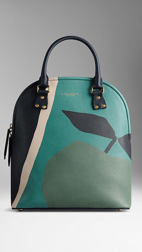The Medium Bloomsbury in The Orchard Print Leather from Burberry. #leather #handbags #burberry