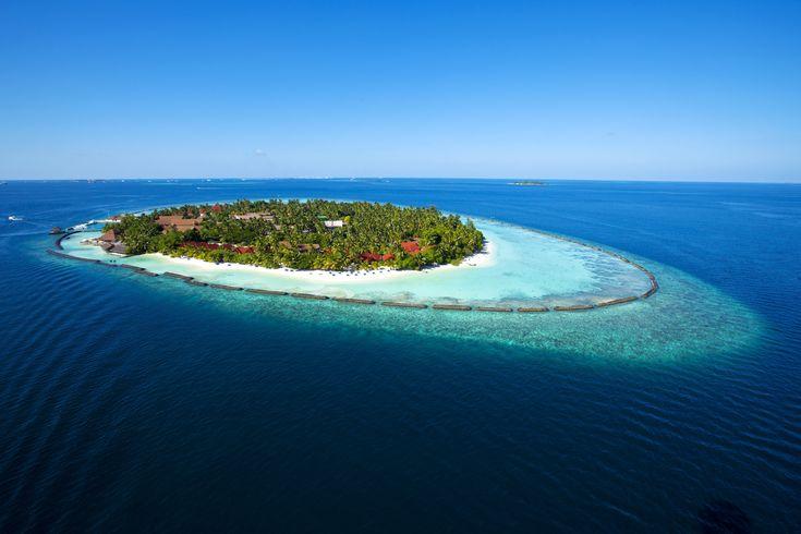 An enchanting Ariel view of the Beautiful Kurumba Maldives.